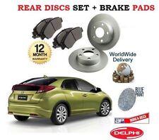 Per HONDA CIVIC i VTEC DTEC TD 2012 -- > NUOVO Freno Posteriore Set Dischi + Pastiglie Kit