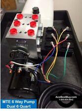 MTE 6 way hydraulic Pump  12 volt  MechTool