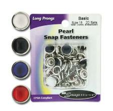 Long Prong Size 18 Snaps Pearl Series  20 Sets (Basic)