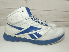 Reebok Classic White & Blue High Top Leather Shoes Sneakers Mens Sz 12 Vibetech