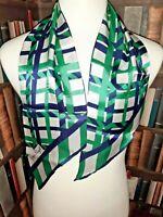 JAQUES PIAGET VINTAGE Head/Neck Scarf STRIPED Original 1950/60s RETRO MOD Silk.