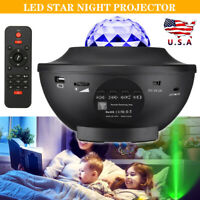 LED Galaxy Starry Night Light Projector Ocean Star Sky Party Lamp Remote Control