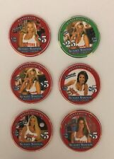 Hooters Sunset Station Casino Chip Set Las Vegas $5 $25 Henderson 2003 Opening
