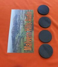 4 x Sorbothane Discs / Feet 25 mm. Diameter x 3mm. Enhanced Sound & Isolation