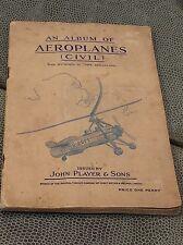 Cigarrillos sammelbilderalbum aeroplanes issued by John Player