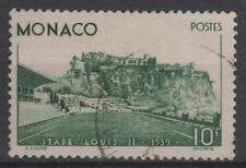 """MONACO STAMP TIMBRE N° 184 """" STADE LOUIS II 10F VERT 1939 """" OBLITERE TTB N734"""