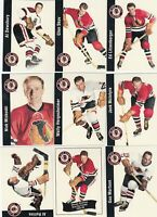 1956-57 PARKIES REPRINTS CHICAGO BLACK HAWK lot of 22 DIFFERENTS CARDS near mint