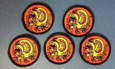 5 Lot Shotokan Dragon Karate Do MMA Martial Arts Uniform Gi Small Patches 300
