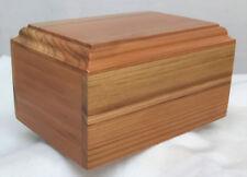 Solid redwood pet cremation urn