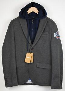RRP €129 DESIGUAL AME SPORTY Men LARGE Removable Collar Blazer Jacket 19995A*