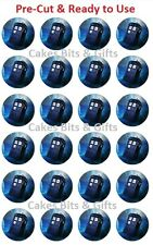 24x Flying DR WHO TARDIS Edible Wafer Cupcake Cake Toppers PreCut & Ready to Use