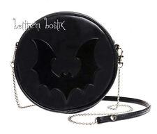 Goth : Alchemy Sac Bandoulière Rond NOIR Chauve Souris Black Bat gothique