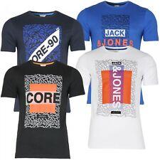 Jack & Jones Herren T-Shirt Rundhalsausschnitt | kurzarm Sport Clubwear Freizeit