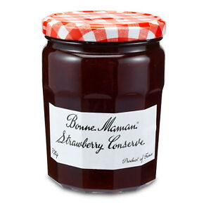 Bonne Maman French Strawberry Conserve 750g Strawberry Jam , Baking