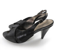 Kenneth Cole Reaction Women's 9 M Sling Back Heels Shoes Black Glad to the Bone