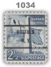 1034 Bunker Hill 2½c BUFFALO N. Y. Bureau Precancel Liberty Issue MNH - Buy Now