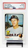 1973 Topps Rookie Cup HOF Boston Red Sox CARLTON FISK Baseball Card PSA 4 VG-EX