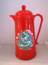 "WAECHTERSBACH ""Christmas Tree"" Coffee/ Beverage Thermos/ Thermal Carafe Red"