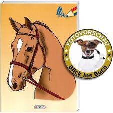 Malbuch Pferde - Malspaß, Spielen und rätseln mit Motiven rund um den Reitsport