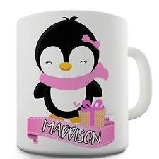 Twisted Envy Personalised Pink Penguin Ceramic Novelty Gift Mug