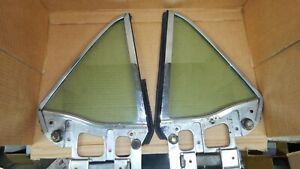 PAIR 1967 1968 FORD MUSTANG LH & RH COUPE TINTED QUARTER GLASS 7A & 7B DATES