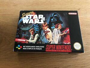 NEUF NEW Super Star Wars FAH Super Nintendo SNES Jeu Boite Complet CIB
