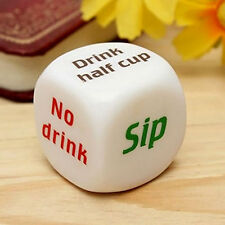Party Drinking Dice Decider Game Pub Toy Die Funny Adult Stag Hen Gift Filler CA