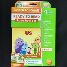 Leap Frog Tag Junior Ready to Read Board Books Early Vocabulary Short Vowel NEW