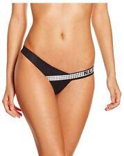 N.L.P Women's Antares Cousin Bum Bikini Bottoms Black & White Large UK 12