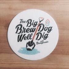 Big BrewDog Well Dig with Brewgooder Beer Mat / Coaster Brand New