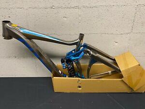 2010 GIANT BICYCLE FAITH 0 FRAMESET MEDIUM, ANODIZED BRUSHED/BLUE 90210GU0217A9