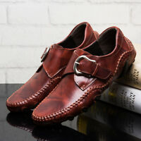 Genuine Leather Men's Casual Loafers Breathable Driving Shoes Slip On Moccasins