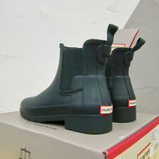 Hunter Dark Green Refined Chelsea Boots Wellies Short Ankle Size 3 Rubber