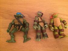 Teenage Mutant Ninja Turtles Viacom 2012 Figures and 2002 Mirage Leo Mike Rap