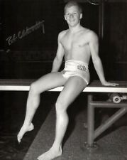 Bob Clotworthy Signed 8x10 Lot of (2) Auto Autograph 1956 Olympic Gold Diving