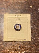 Vintage Rotary International Past President Lapel Pin, 14K Gold