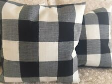 "2pcs Buffalo Check Pillow Covers Plaid Farmhouse 18"" Sofa Decor Cushion Cover"