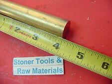 34 C360 Brass Round Rod 4 Long Solid 750 Diameter New Lathe Bar Stock H02