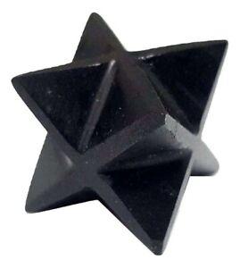 Black Tourmaline Merkaba Star Reiki Energy Charged Crystal Schorl Protective
