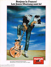 PUBLICITE ADVERTISING 065  1980  MUSTANG jeans & jackets