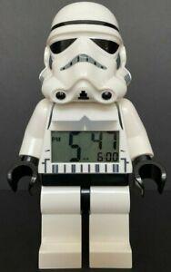 "Lego STAR WARS Storm Trooper Digital Battery-Operated Alarm Clock Minifigure 9"""