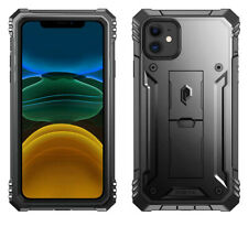Apple iPhone 11 Case Poetic Shockproof Cover With Built-In Kick-stand Black