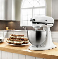 KitchenAid 4.5 Quart Classic Plus Stand Mixer - White