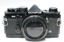 Olympus OM-2 35mm SLR camera body rare Black v. fully working OM2, OM lens mount