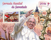 Sao Tome & Principe 2016 MNH World Youth Day Pope Francis 1v S/S Stamps