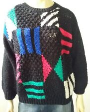 TARGET vintage ladies size 10 - 12 jumper 80's chunky knit colourful retro ugly