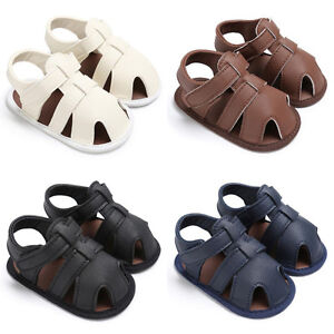 Baby Kids Boys Girls Soft Sole Crib T-tied Sandals Newborn Beach Sneakers Shoes