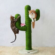 Sisal Rope Cat Tree Feline Scratch Toy Kitty Scratching Tower Condo House DIY