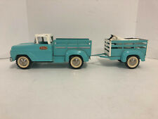 Vintage Tonka Stake Truck and Horse Trailer, 960's
