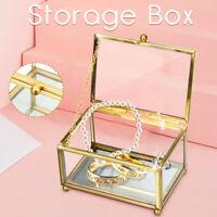 Glass Wedding Ring Box, Custom Glass Rings Holder, Ring Bearer Box